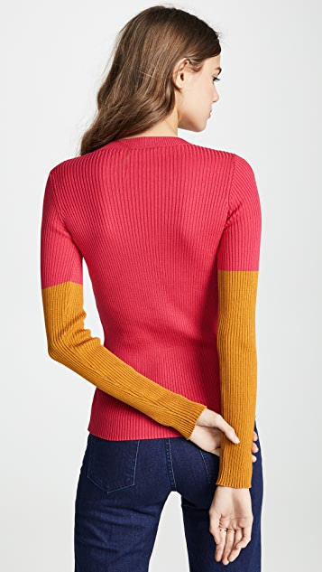 Cedric Charlier Colorblock Sweater