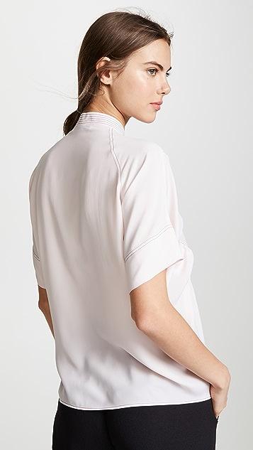 Cedric Charlier Блуза с рукавами-буфами