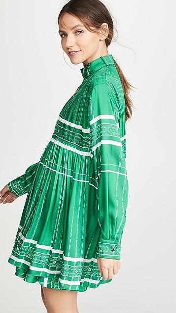 Cedric Charlier Платье в полоску