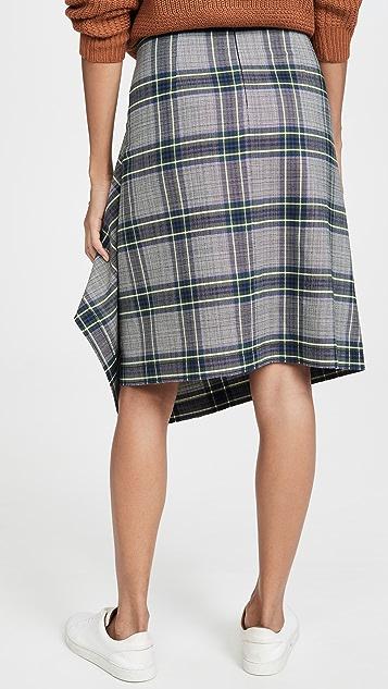 Cedric Charlier Клетчатая юбка с запахом