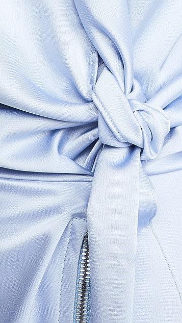 Cedric Charlier 裹身缎面连衣裙