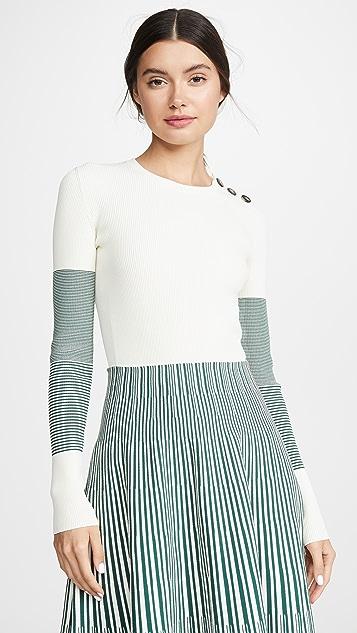 Cedric Charlier Contrast Sleeve Sweater