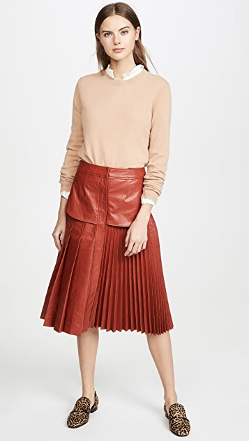 Cedric Charlier Eco Faux Leather Skirt
