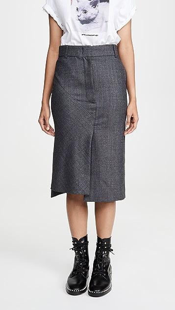 Cedric Charlier Grey Pinstripe Skirt