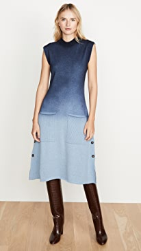 Blue Ombre Sweater Dress