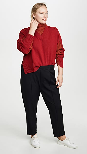 Cedric Charlier Red Wool Sweater