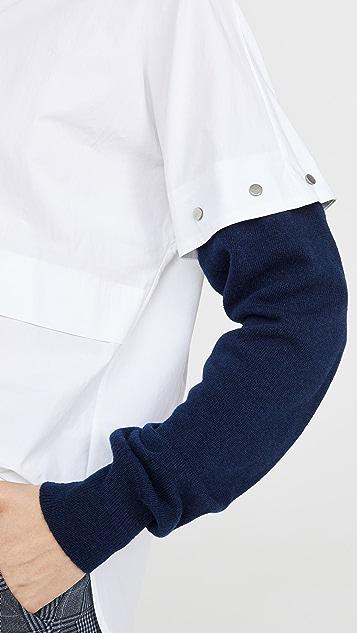 Cedric Charlier Рубашка с контрастными рукавами