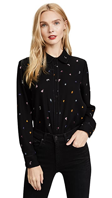 Cooper & Ella Ladybug Piped Blouse