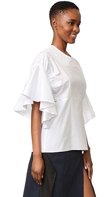 Christopher Esber Mirage Ruffle Top