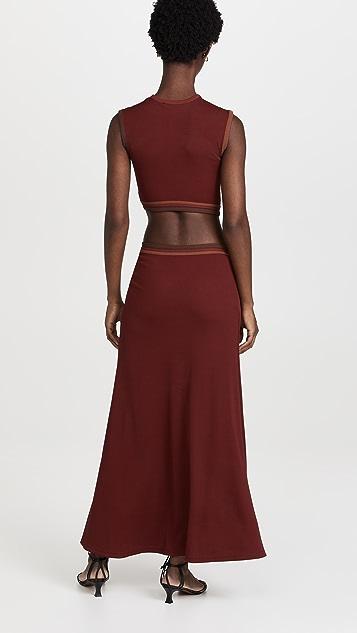 Christopher Esber Multi Paisley Cut Torso Dress