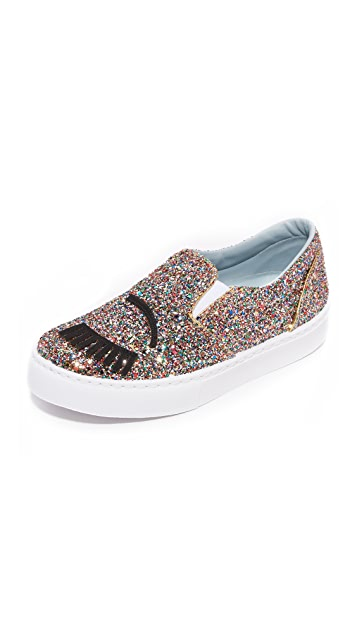 Chiara Ferragni Glittery Flirting Sock Slip-on Sneakers With Credit Card Free Shipping Very Cheap Sale Online tQ7brCzRWP