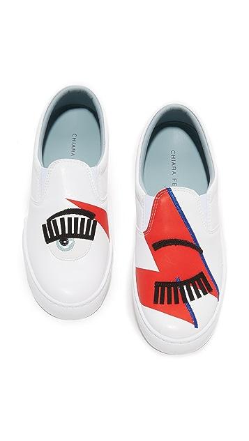 Chiara Ferragni Bowie Slip On Sneakers