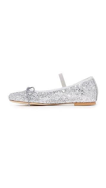 Chiara Ferragni Glitter Wrap Ballet Flats
