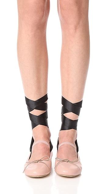 Chiara Ferragni Wrap Ballet Flats