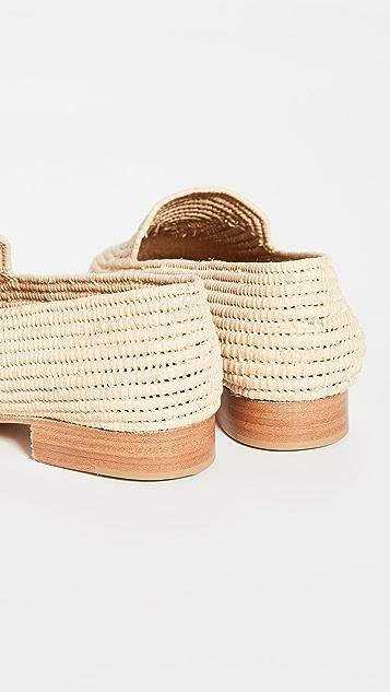 草编穆勒鞋 Atlas 平跟船鞋