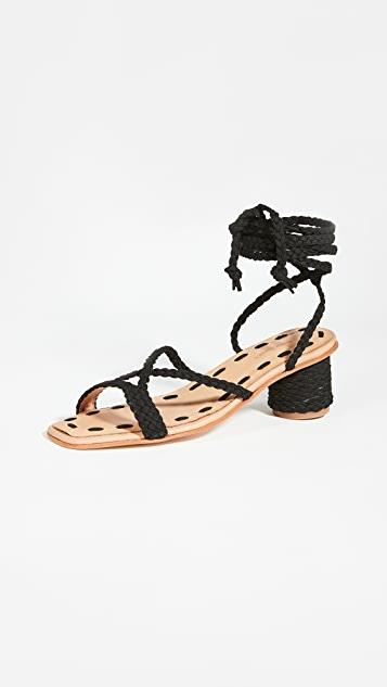 草编穆勒鞋 Mai 环绕式凉鞋