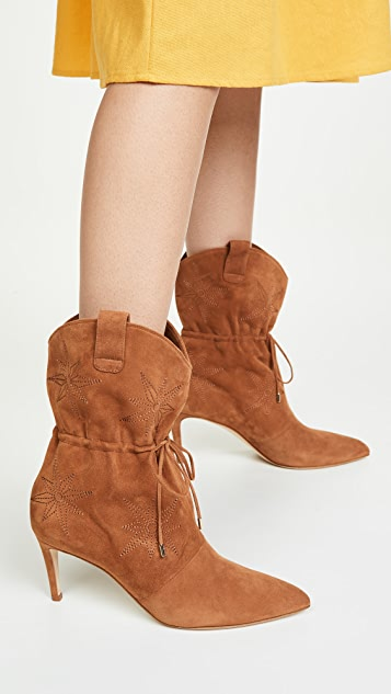 Chloe Gosselin Thelma Embroidered Pointed Boots