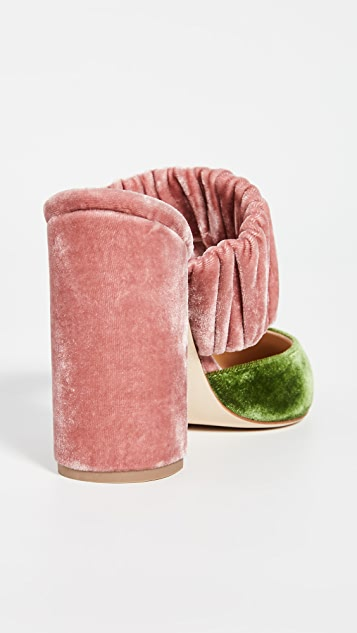 Chloe Gosselin Kiera Bi-Color Pointed Mules