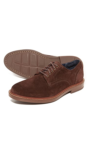 Cole Haan Adams Suede Plain Toe Oxfords