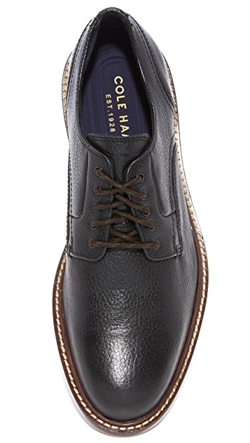 Cole Haan Adams Grand Plain Tumbled Leather Oxfords