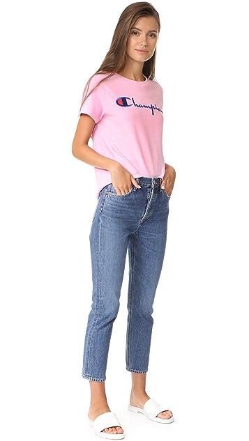 Champion Premium Reverse Weave Crew T Shirt
