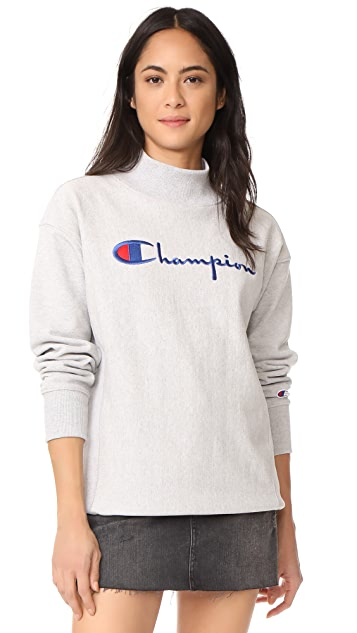 Champion Premium Reverse Weave Polo Neck Sweatshirt