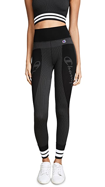 Champion Premium Reverse Weave Pinstriped Leggings