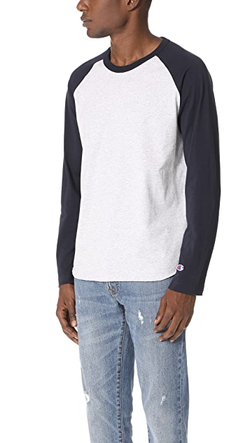 Champion Premium Reverse Weave Long Sleeve Raglan Shirt