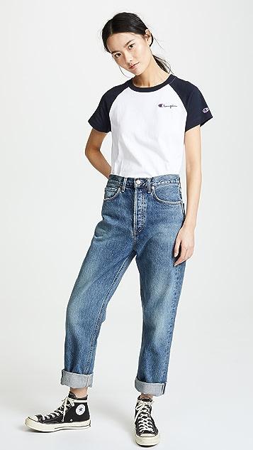 Champion Premium Reverse Weave Baseball T-Shirt