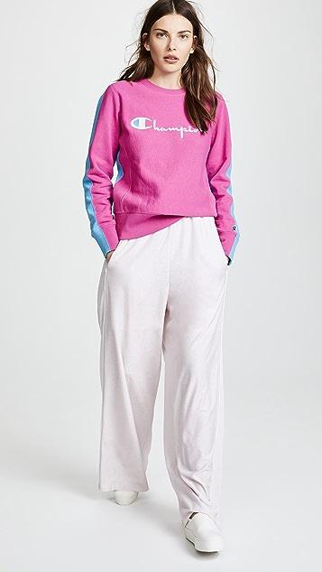 Champion Premium Reverse Weave Colorblock Logo Sweatshirt