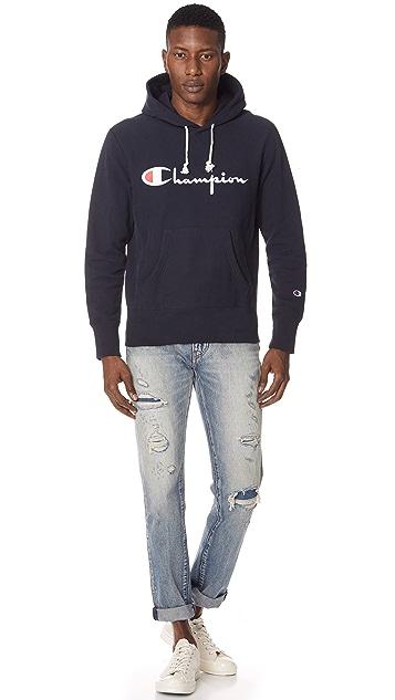 Champion Premium Reverse Weave Reverse Logo Hoodie
