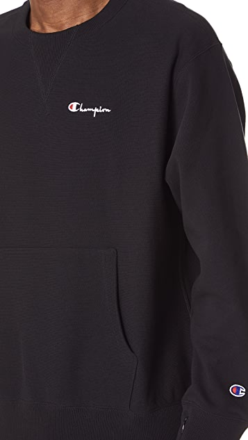 Champion Premium Reverse Weave Deconstructed Crew Neck Sweatshirt