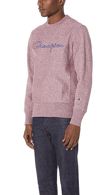 Champion Premium Reverse Weave Jaspe Crew Sweatshirt