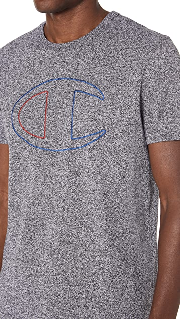 Champion Premium Reverse Weave Short Sleeve Marl T-Shirt