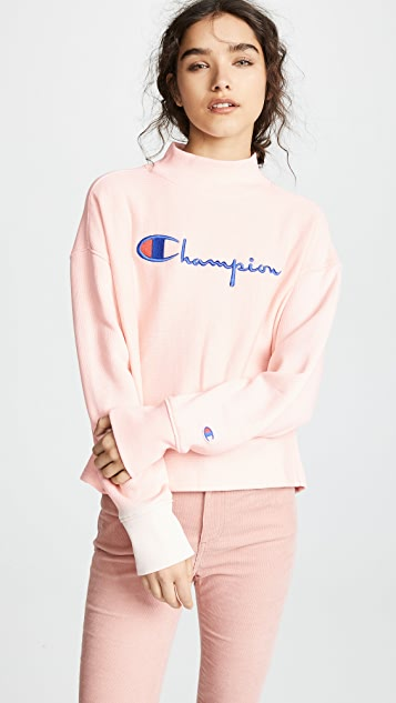 07e0ea37db39 Champion Premium Reverse Weave High Neck Sweatshirt