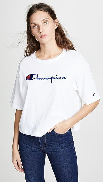 двусторонняя ткань Champion Premium Длинное платье-футболка