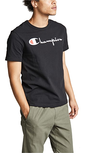 Champion Premium Reverse Weave Crew Neck Tee Shirt