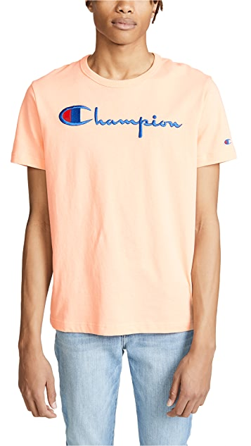 Champion Premium Reverse Weave Men's Short Sleeve Crew Tee