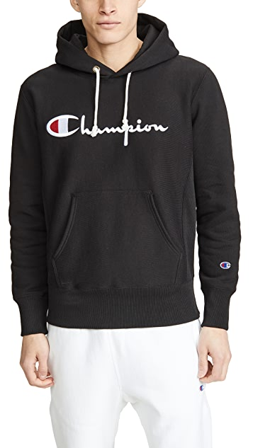 Champion Premium Reverse Weave Large Logo Pullover Hoodie
