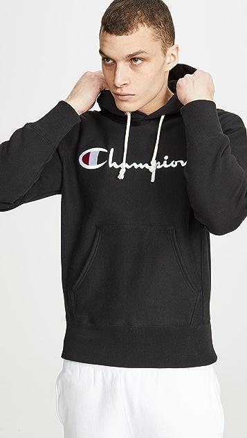 Champion Premium Reverse Weave Large Logo Pullover Hoodie