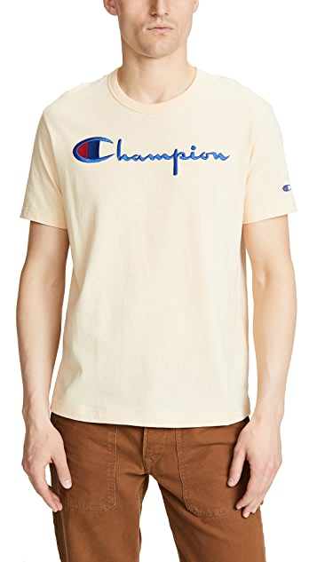 Champion Premium Reverse Weave Large Logo Tee