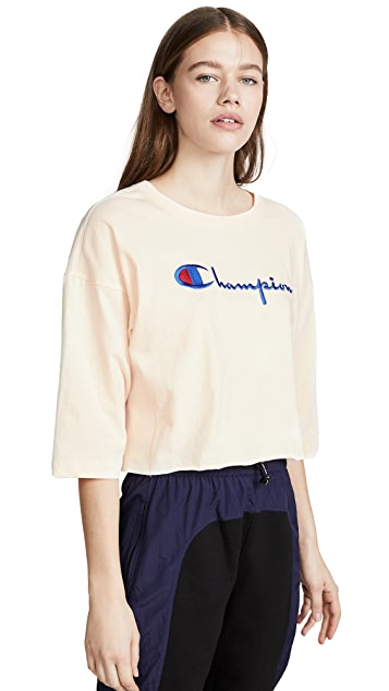 Champion Premium Reverse Weave Cropped 3/4 T-Shirt