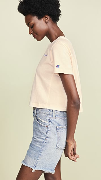 Champion Premium Reverse Weave 短款圆领 T 恤