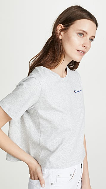 Champion Premium Reverse Weave Cropped Crew Neck T-Shirt