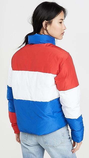 двусторонняя ткань Champion Premium Пуховик с цветными блоками