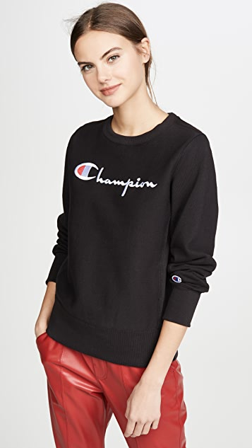 Champion Premium Reverse Weave Big Script Crew Neck Sweatshirt