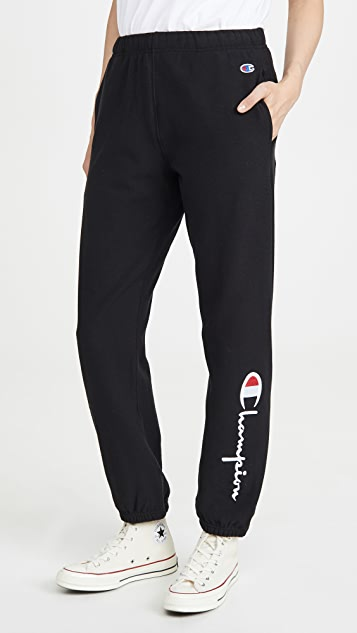 Champion Premium Reverse Weave Big Script Elastic Cuff Pants