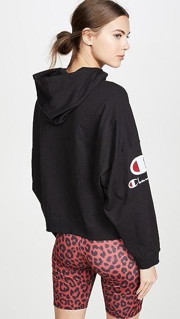 двусторонняя ткань Champion Premium Топ с капюшоном и логотипом на рукавах