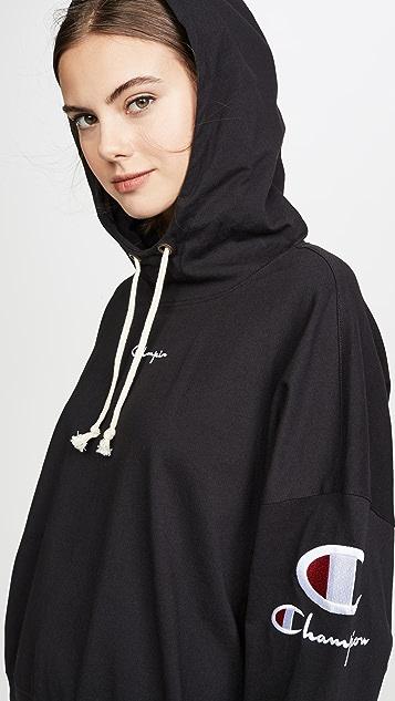 Champion Premium Reverse Weave Sleeve Logo Hooded Top