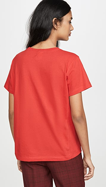 Champion Premium Reverse Weave Small Script Crew Neck T-Shirt